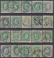 30 (20 Ex.) SC / DC. Mons (Station) Paire. Jambes Ouest3 Ostende Wandre...Gemengde Kwaliteit / Qualité Mixte 1873-1882 - 1869-1883 Leopold II.