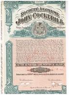 Action Ancienne - Société Anonyme John Cockerill - Lot De 4 Titres De 1947 Annulés - Belgique - Industrie