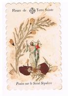 Canivet  Decoupis  Fleurs De Terre Sainte - Images Religieuses