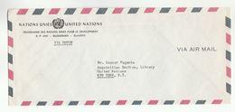 UN In BURUNDI Via DIPLOMATIC BAG 'Pouch'  UNDP Bujumbura To UN NY USA  United Nations Cover - Burundi