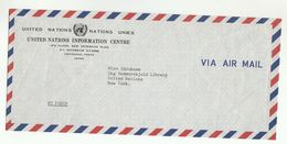 UN In JAPAN Via DIPLOMATIC BAG 'Pouch'  UNDP Tokyo To UN NY USA  United Nations Cover - 1926-89 Empereur Hirohito (Ere Showa)