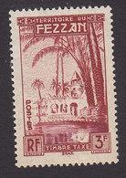 Fezzan, Scott #2NJ3, Mint Hinged, Oasis Of Brak, Issued 1950 - Fezzan (1943-1951)