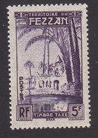 Fezzan, Scott #2NJ4, Mint Hinged, Oasis Of Brak, Issued 1950 - Unused Stamps