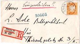 Bayern 1907, 25 Pf. Auf Orts Einschreiben Briefteil V. München 34 Veterinärstr. - Bayern