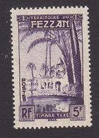 Fezzan, Scott #2NJ4, Mint Never Hinged, Oasis Of Brak, Issued 1950 - Unused Stamps