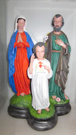 SACRA FAMIGLIA GESSO 30 CM H - Religione & Esoterismo