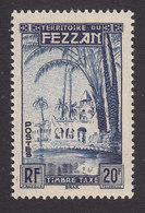 Fezzan, Scott #2NJ6, Mint Never Hinged, Oasis Of Brak, Issued 1950 - Fezzan (1943-1951)