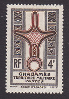 Fezzan, Scott #3N1, Mint Hinged, Cross Of Agadem, Issued 1949 - Fezzan (1943-1951)