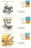 Niger FDC WWF Stamps 20-11-1978 With WWF Panda On The Stamps Set Of 3 On 3 Covers With Cachet - FDC