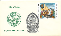 Isle Of Man Souvenir Cover King Williams College Castletown 6- 5-1980 EUROPA CEPT Stamp - Isle Of Man