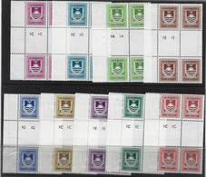 KKIRIBATI 1981 Complete Set Of 8 Postage Due In Gutter Blocks Of 4 Showing Plates UMM - Kiribati (1979-...)