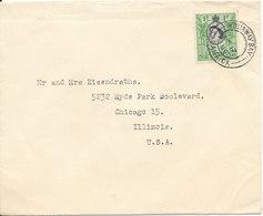 Jamaica Cover Sent To USA 17-11-1956 Single Franked - Jamaica (...-1961)