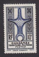 Fezzan, Scott #3N4, Mint Hinged, Cross Of Agadem, Issued 1949 - Fezzan (1943-1951)
