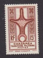 Fezzan, Scott #3N6, Mint Hinged, Cross Of Agadem, Issued 1949 - Fezzan (1943-1951)
