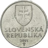 Monnaie, Slovaquie, 10 Halierov, 2001, TTB, Aluminium, KM:17 - Slovaquie