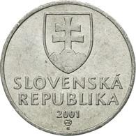 Monnaie, Slovaquie, 10 Halierov, 2001, TTB+, Aluminium, KM:17 - Slovaquie