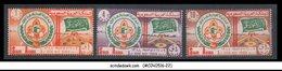 SAUDI ARABIA - 1969 3rd ROVER MOOT / BOY SCOUT - 3V - MINT NH - Saudi Arabia