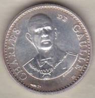 Medaille En Argent . Charles De Gaulle – 30eme Anniversaire 1958 -1988 - France