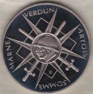 Medaille Ferdinand Foch – Georges Clemenceau. 80e Anniversaire 1918 - 1998, Par Jimenez - France