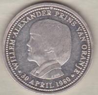 Medaille . Willem-Alexander Prins Van Oranje 30 April 1980, En Argent - Non Classés