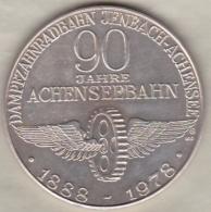 Autriche Medaille En Argent 90 Jahre Achenseebahn 1978 - 90 Ans De Chemin De Fer Achensee 1888 - 1978 - Tokens & Medals