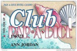 Par-A-Dice Casino - East Peoria, IL - PRINTED Slot Card With Black Mag Stripe - Casino Cards