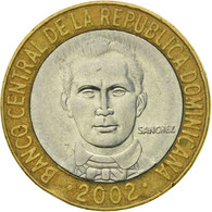 Monnaie, Dominican Republic, Franz Joseph I, 5 Pesos, 2002, TTB, Bi-Metallic - Dominicana
