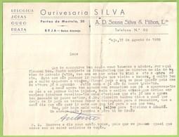 Beja - Ourivesaria Silva - Factura - Portugal