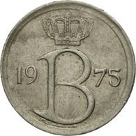 Monnaie, Belgique, 25 Centimes, 1975, Bruxelles, TTB, Copper-nickel, KM:154.1 - 02. 25 Centimes