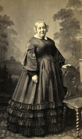 France Paris Femme Mode Second Empire Ancienne Photo CDV Mouret 1860' - Photographs