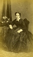France Paris Femme Mode Second Empire Ancienne Photo CDV Trinquart 1860' - Photographs