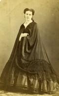 France Paris Femme Mode Second Empire Ancienne Photo CDV Piallat 1860' - Photographs