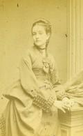 France Paris Femme Mode Amélie Beaufour Ancienne Photo CDV Jally 1873 - Photographs