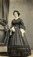 France Rugles Femme Mode Second Empire Ancienne Photo CDV Gustave Jeune 1862 - Photographs