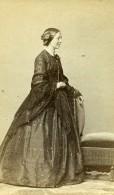 France Paris Femme Mode Second Empire Ancienne Photo CDV Franck 1860' - Photographs