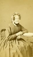 France Paris Femme Agee Mode Second Empire Ancienne Photo CDV Pepper 1870' - Photographs