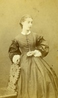 France Paris Femme Mode Second Empire Ancienne Photo CDV Thiboust Jeune 1860's - Photographs