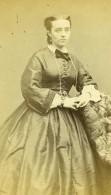 France Paris Marie Baudouin Femme Mode Second Empire Ancienne Photo CDV Carjat 1860' - Photographs