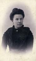 Belgique Menin Femme Mode Ancienne Photo CDV Pille 1900 - Photographs