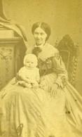 France Lille Femme Et Bebe Mode Ancienne Photo CDV Carette 1870' - Photographs