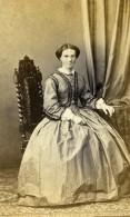 France Lille Mme Bassecour Femme Mode Second Empire Ancienne Photo CDV Benoit 1860' - Photographs