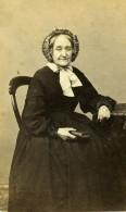 France Lille Mme Compagnion Femme Mode Second Empire Ancienne Photo CDV Benoit 1860' - Photographs