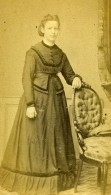 France Lille Marina Parsy Femme Mode Ancienne Photo CDV Bury 1871 - Photographs
