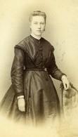 France Lille Mme Rousseaux Femme Mode Ancienne Photo CDV Bury 1870' - Photographs