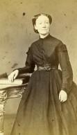 France Lille Mme Bassecour Femme Mode Ancienne Photo CDV Faure 1870' - Photographs