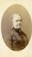 France Lille Mme Hyart Femme Agee Mode Ancienne Photo CDV Damry 1875 - Photographs