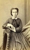 France Rouen Femme Mode Second Empire Ancienne Photo CDV Witz 1860's - Photographs