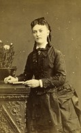 France Rouen Femme Mode Second Empire Ancienne Photo CDV Witz 1870's - Photographs