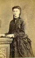 France Rouen Femme Mode Second Empire Ancienne Photo CDV Witz 1860's - Old (before 1900)