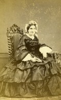 France Chartres Femme Mode Second Empire Ancienne Photo CDV Mme Leclerc 1860' - Old (before 1900)